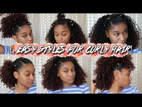 Curly Hair Easy Hairstyle