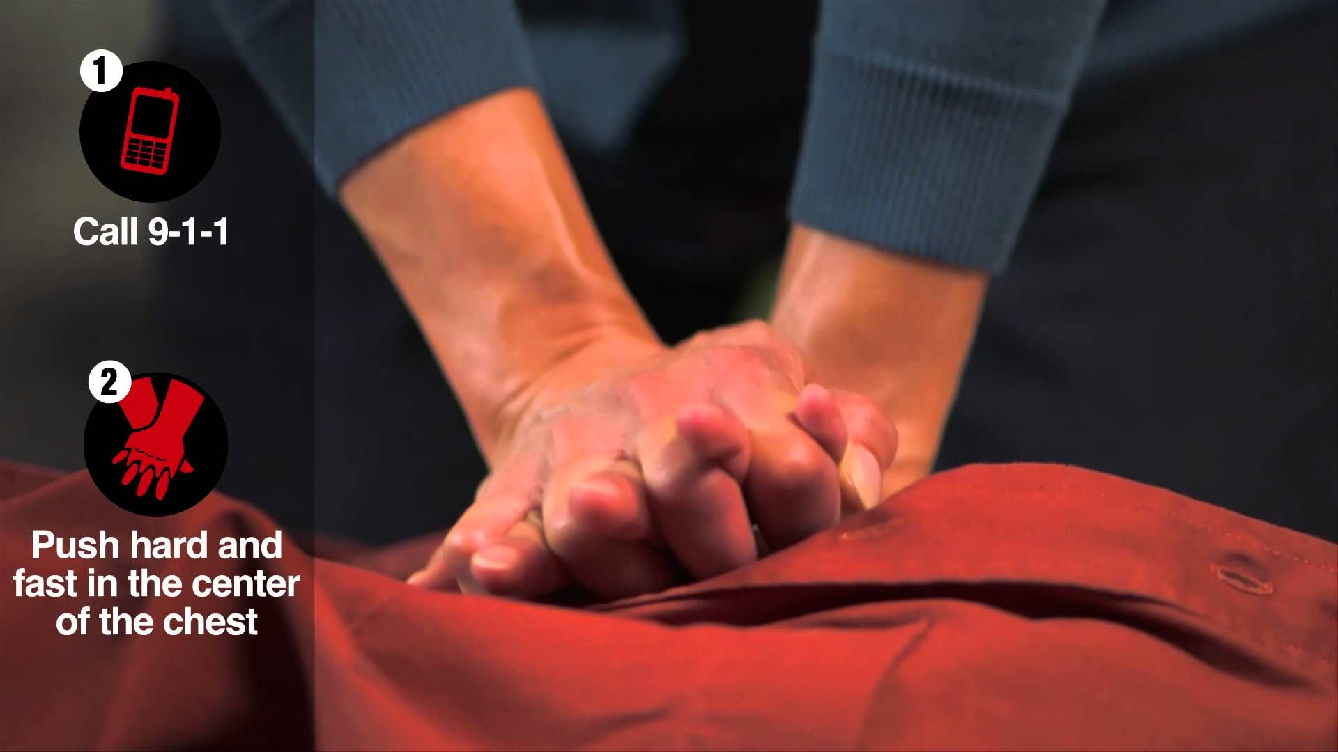 HandsOnly CPR Demo Video take a minute to save a life
