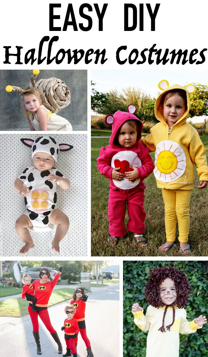 Easy DIY Last Minute Halloween Costumes  Diy halloween costumes