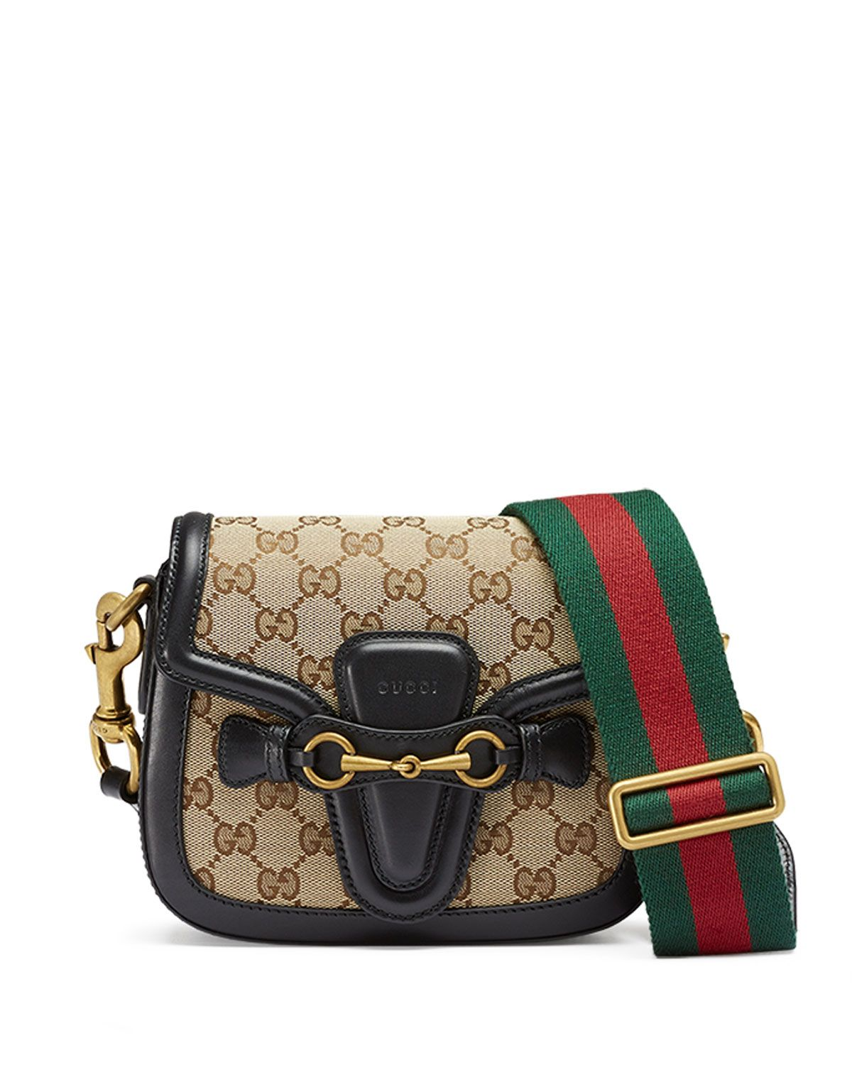 3a7933b4725 Gucci Lady Web Small GG Canvas Shoulder Bag