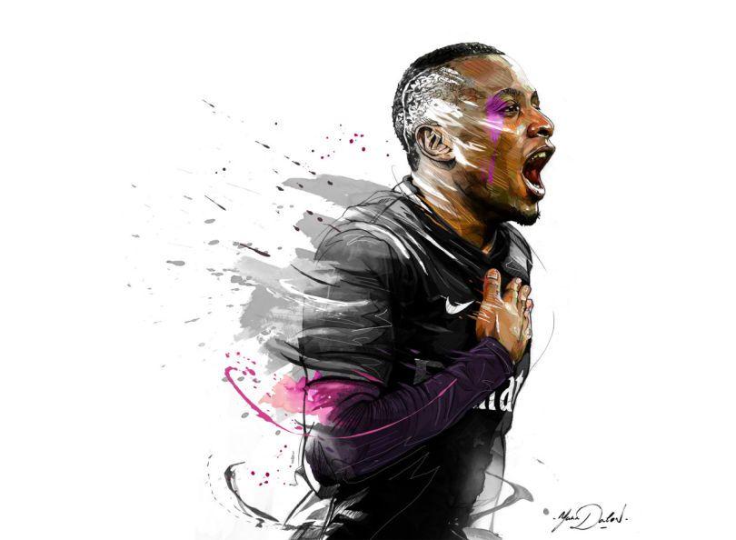 Blaise Matuidi French Football Psg Art Football Dessin