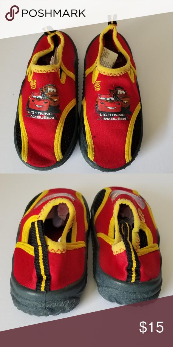 8441b74b0691 Disney Cars 2 Lightning Mcqueen Toddler Water Shoe Disney  Pixar Cars 2 Lightning  Mcqueen Toddler