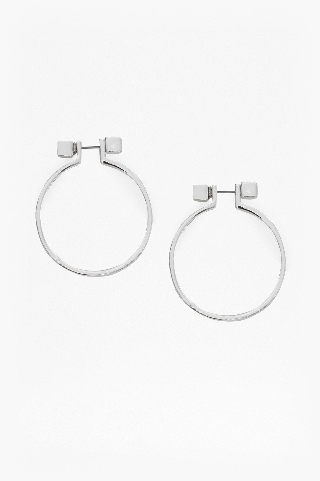 Cube Circle Earrings | Jewelry | French Connection Usa