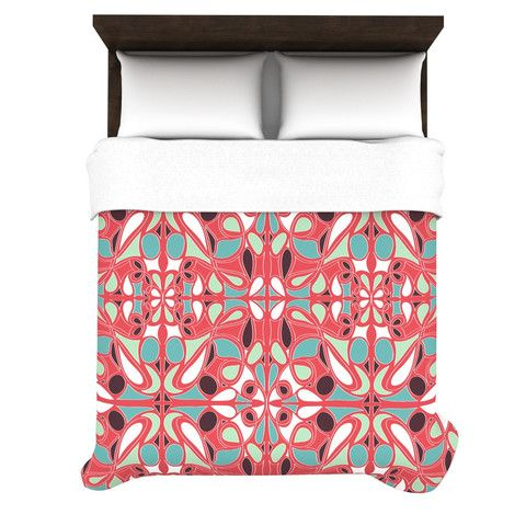 """Miranda Mol """"Stained Glass Pink"""" Duvet Cover"""