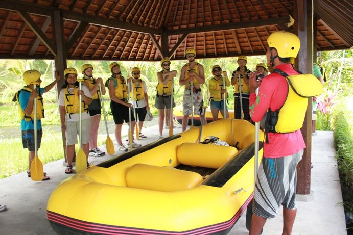 Bali rafting use the new boat for safe our customer