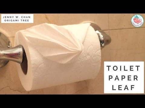 How to fold toilet paper into a leaf toilet paper origami leaf how to fold toilet paper into a leaf toilet paper origami leaf youtube mightylinksfo