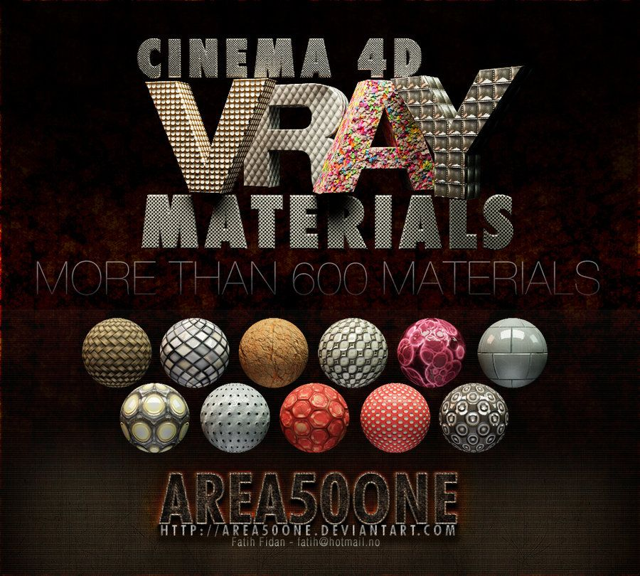 Cinema 4d Vray Materials by arEa50oNe deviantart com on @deviantART