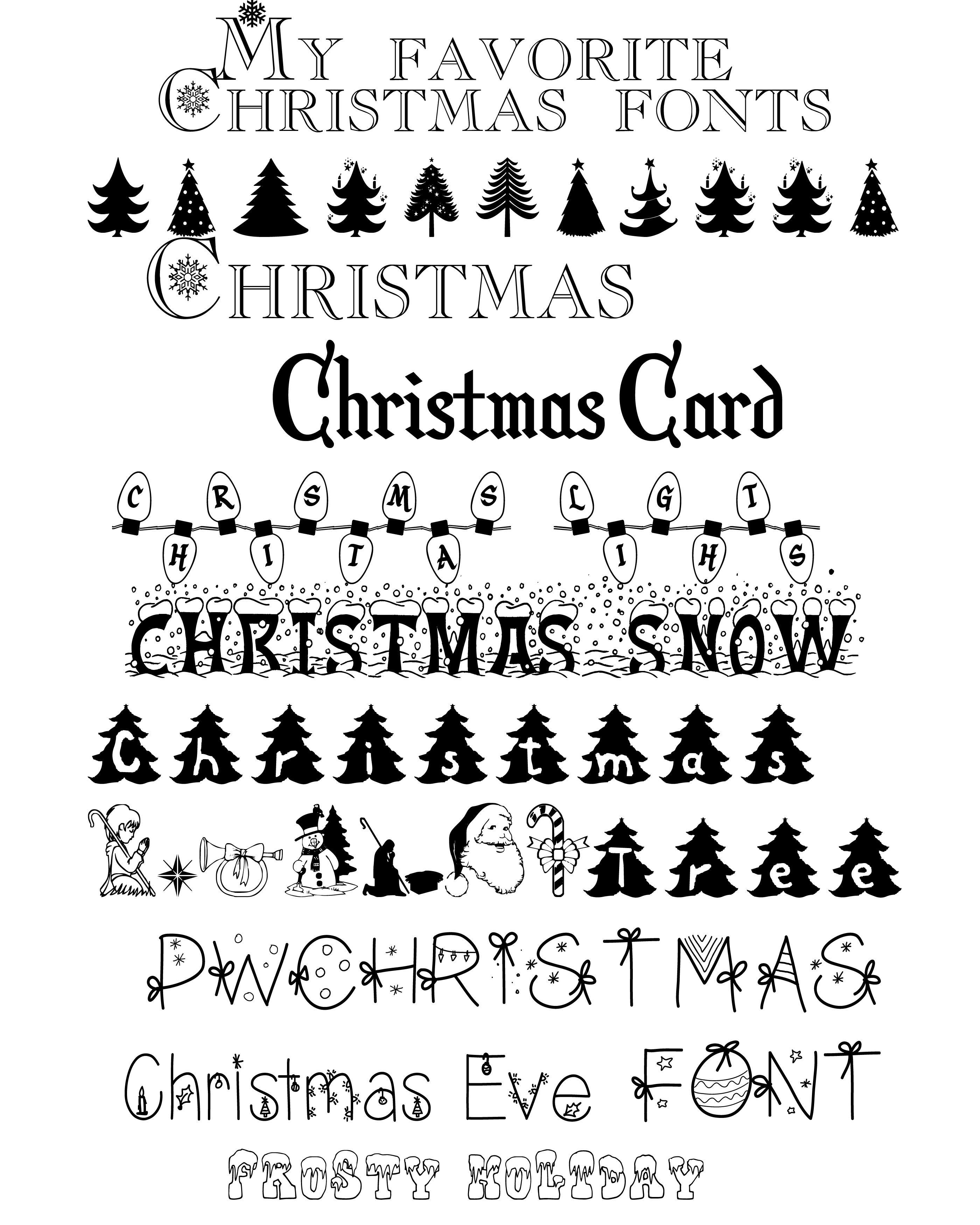 My Favorite Christmas Fonts Christmas fonts, Christmas