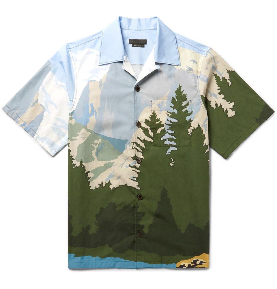 71ef6729 Prada - Camp-Collar Printed Cotton-Poplin Shirt | Dope Men's Looks ...