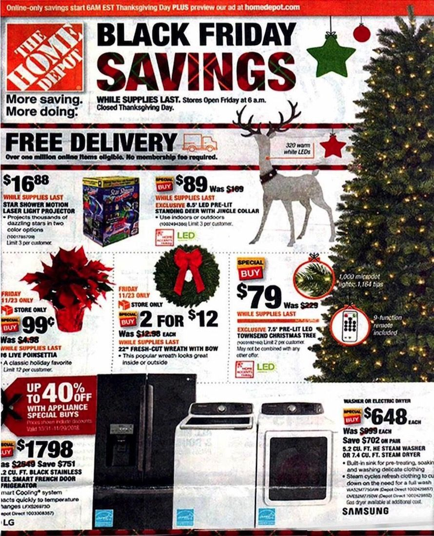 Home depot black friday ad for also christmas present list this rh pinterest
