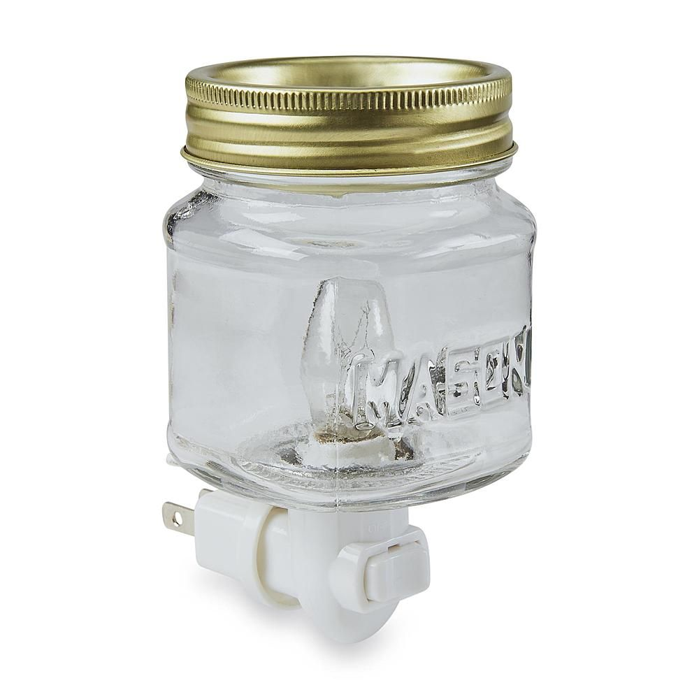 Mason Jar Plug In Wax Warmer Home Home Decor Candles Home Fragrance Candles Mason Jars Mason Jar Night Light Mason Jar Fun