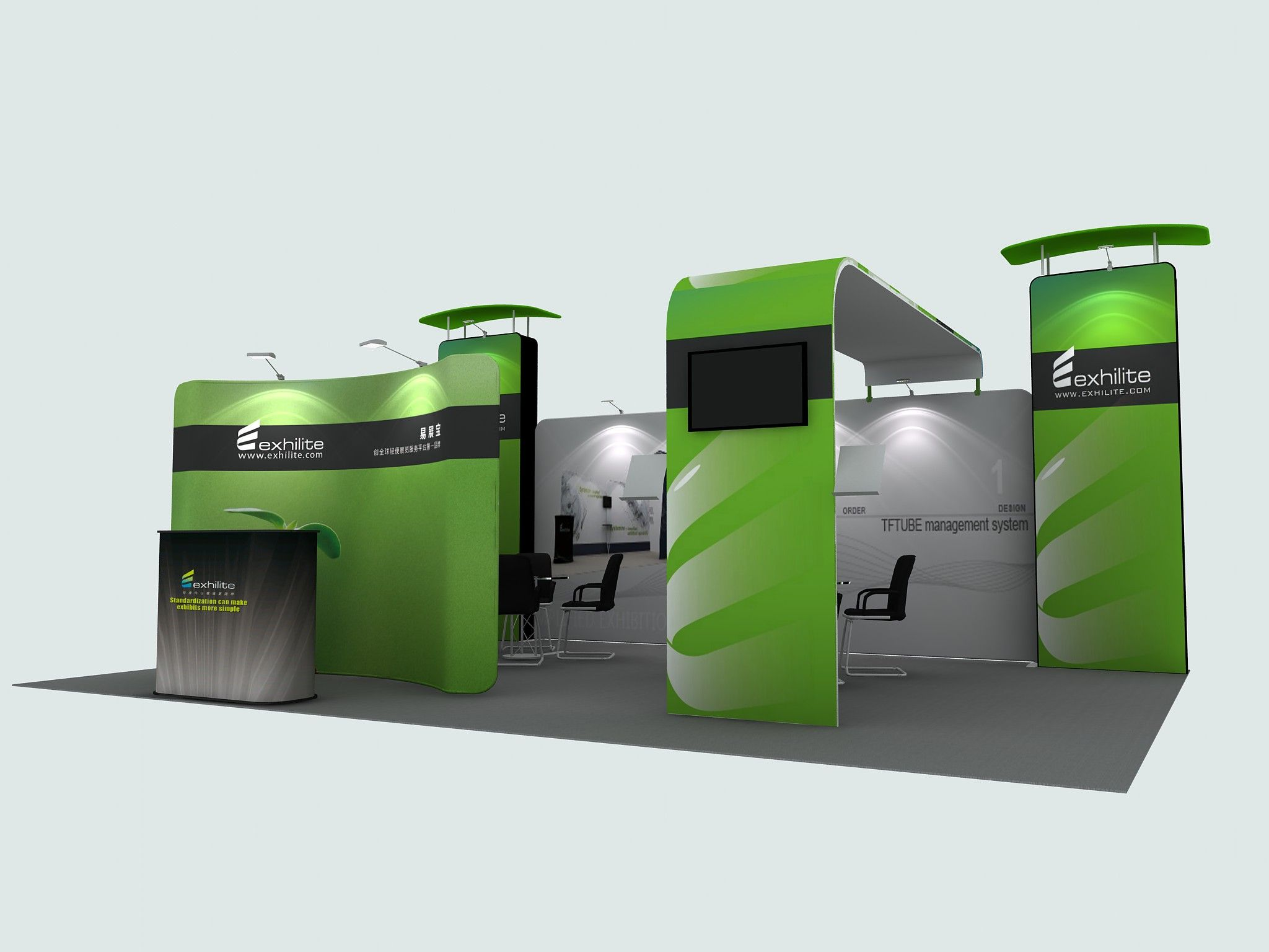 Trade Show Booth Objectives : Trade show booth design of hawk display the whole