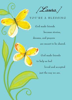 God Made Friends Friendship Card