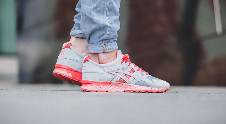 58d9989c7aaf Asics have raised the bar once again. This is a great on foot shot of the  ASICS Gel Lyte V Bright Pack Grey