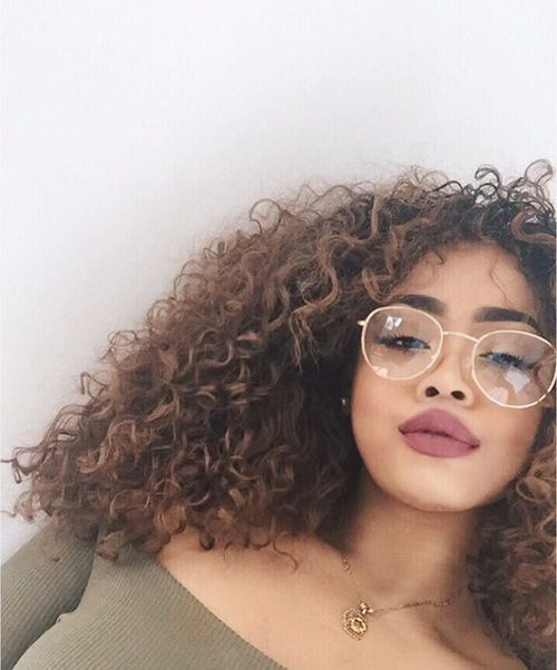 Curly Hair Glasses Porn