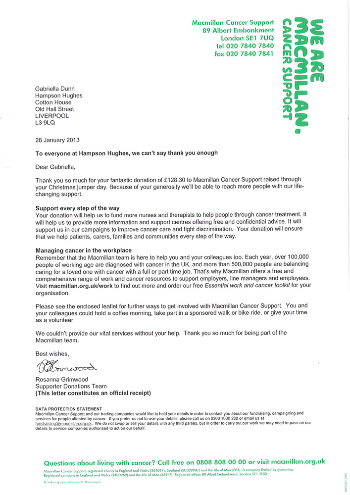 Ssds Test Engineer Sample Resume Thankyou Letter From Macmillan Cancer Support Editable Charity