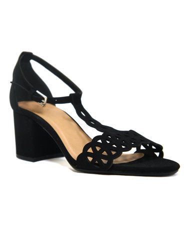 Loving this Black Jakarta T-Strap Sandal on #zulily! #zulilyfinds