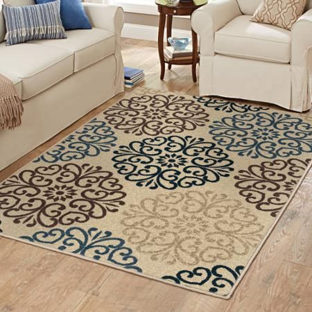 Better Homes And Gardens Blue Clarkston Area Rug Walmart Com