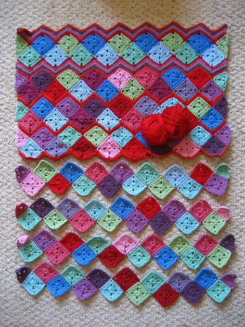 Zigzag baby blanket :: ta-dah! | Pinterest | Afghans, Crochet and ...
