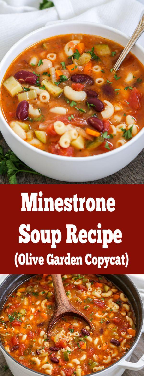 Minestrone soup olive garden copycat its not just tasty