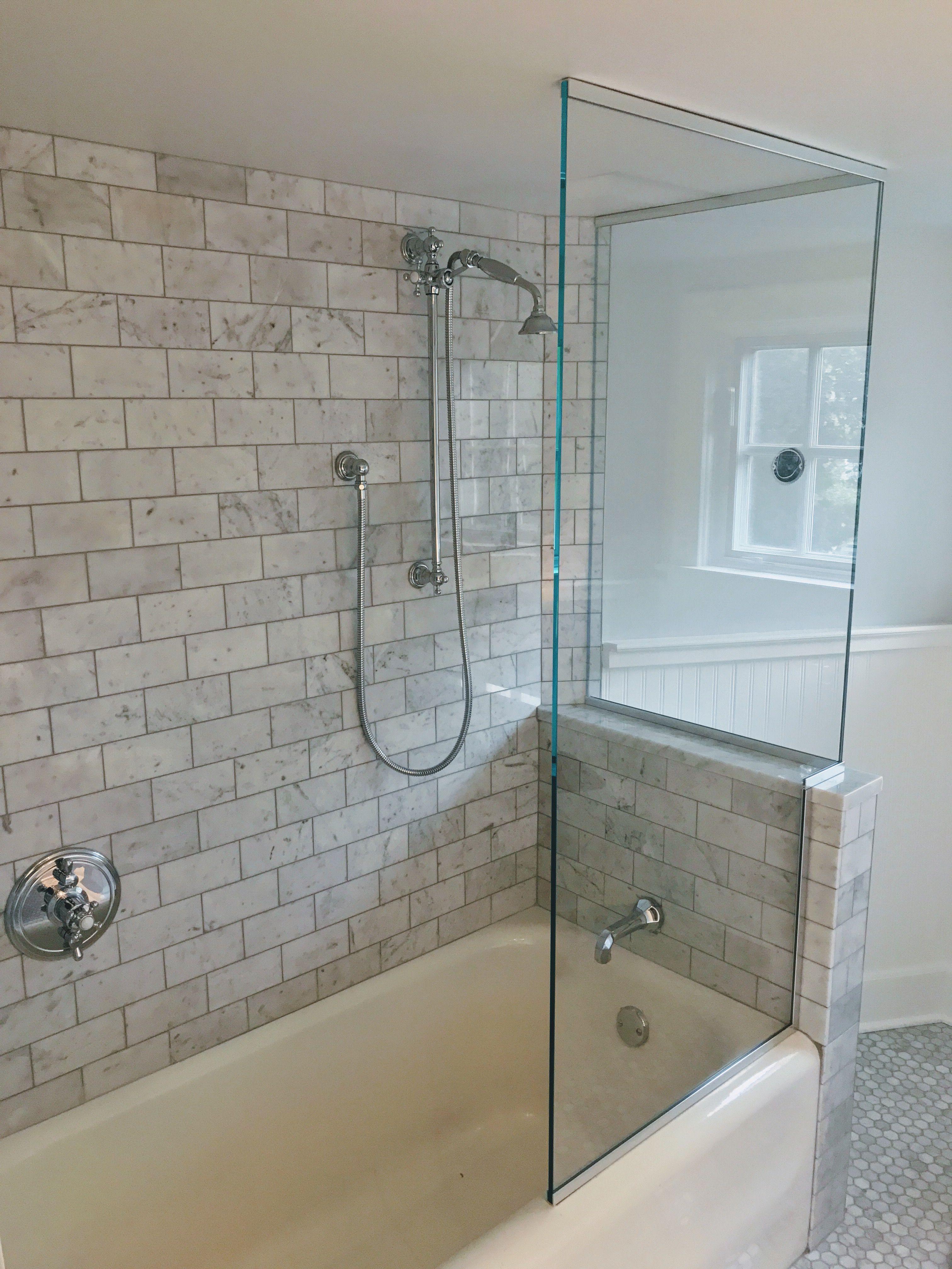 Beautiful Vintage Bathtub Glass Design Walk In Shower Using 3 8