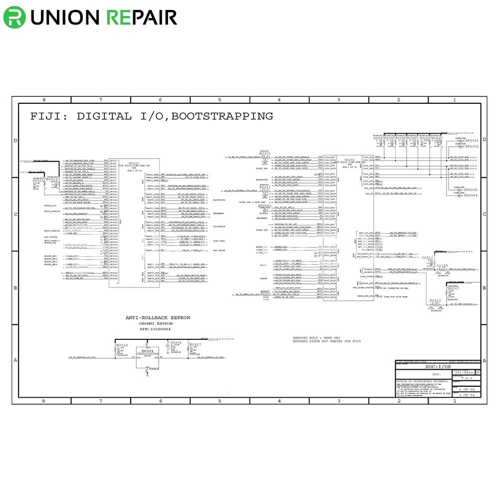 Schematic Diagram (searchable PDF) for iPhone 6/6p/5s/5c/5