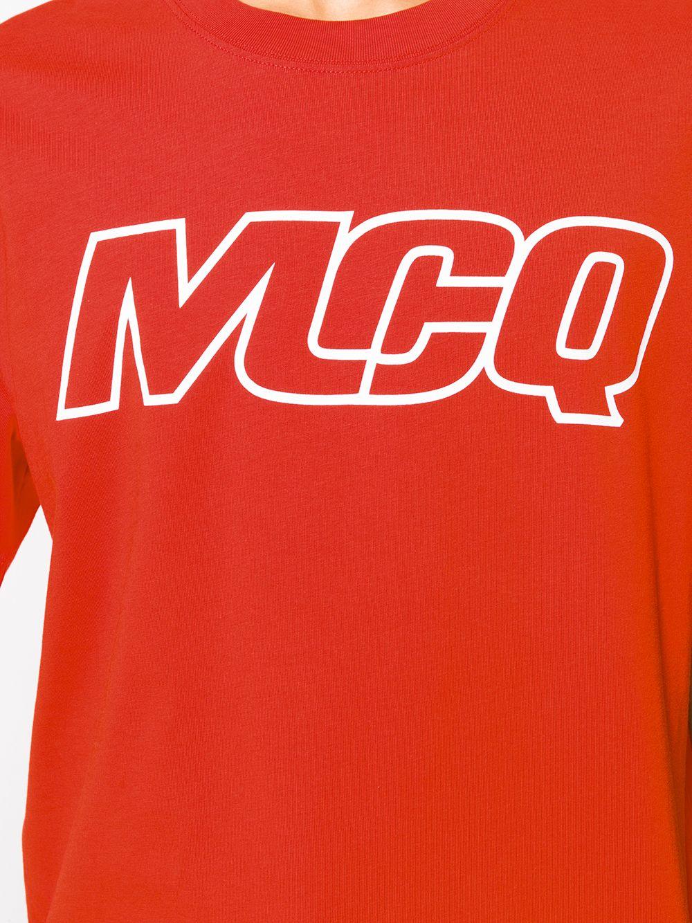 mcq swallow logo print t shirt farfetch print t shirt mcq alexander mcqueen edgy fashion chic print t shirt mcq alexander mcqueen