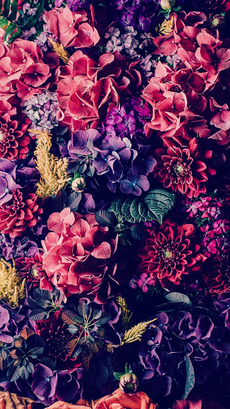 Iphone 6 tumblr wallpaper vintage - Colorful Flowers Bouquet Iphone 6 Wallpaper