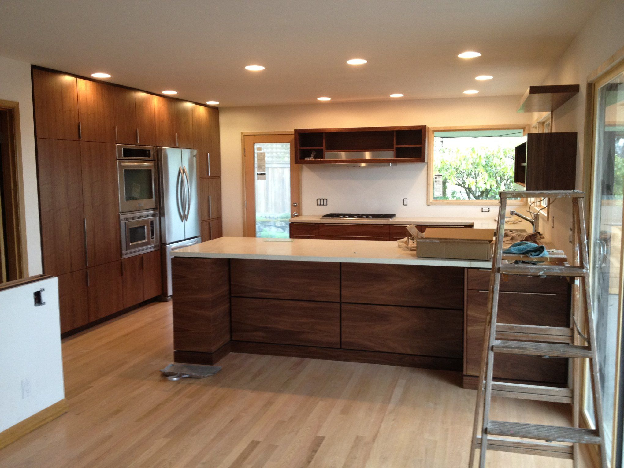 Gec Cabinet Depot Walnut Cabinets In 2020 Walnut Kitchen Cabinets Mid Century Modern Walnut Kitchen Walnut Kitchen