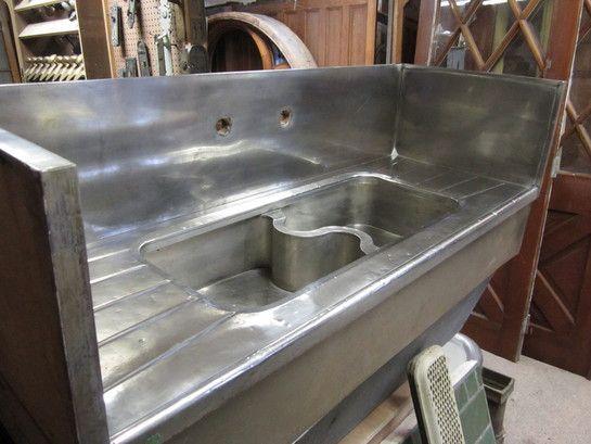 Ordinaire Antique Kitchen Sinks German Silver Sink