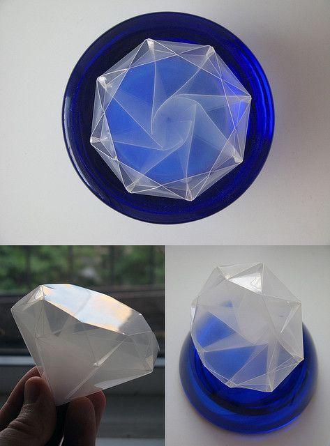 Satoshi Kamiya Diamond, polypropylene, cut and scored on a Craft ROBO   Flickr - Photo Sharing!