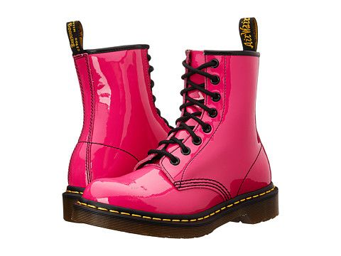 Dr. Martens Hot Pink Patent 8 eye 1460 Size 7