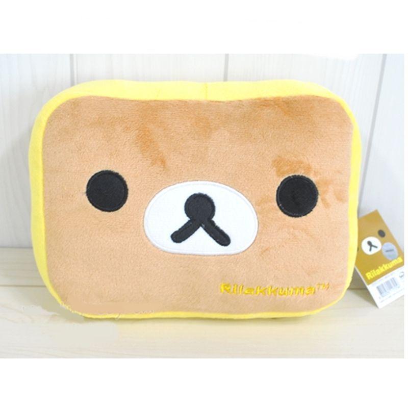 San-X Rilakkuma Korilakkuma Sakura Dorayaki Head Face Cushion Pillow Plush Pink