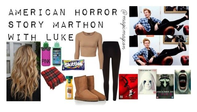 """AHS Marthon w/ Luke"" by magicmagcon ❤ liked on Polyvore featuring Coven, River Island, UGG Australia and Victoria's Secret"