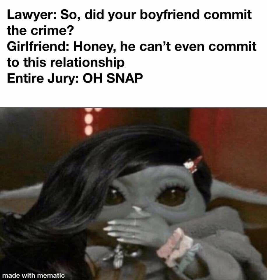 Pin By Amy Krutza On Baby Yoda Couple Memes Memes Me Too Meme