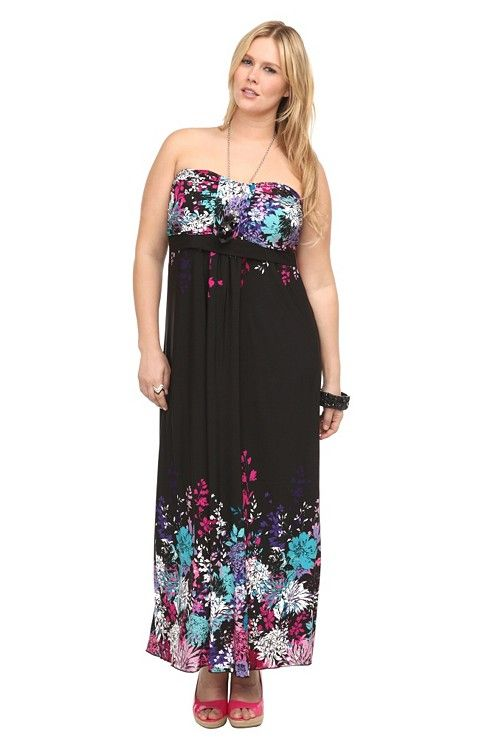 5f1fdbe0277 Black Floral Border Maxi Dress - Up to a size 5 in Torrid Sizes (which is  like a 5x!) Plus Size fashion at it s best. All sold out  (