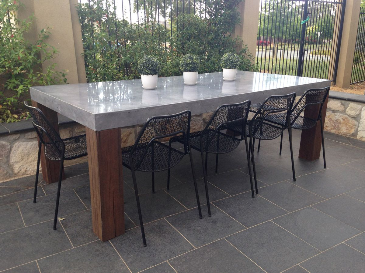 Elegant Concrete Outdoor Dining Table 41 With Additional Home Design Ideas