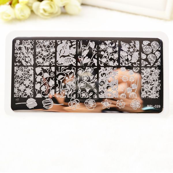 BP-L029 Flower Theme Nail Art Stamp Template Image Plate - stamp template