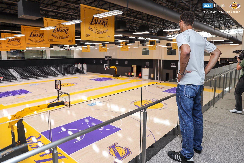 Brook Lopez Surveys His New Practice Gym Ucla Health Center Basketball Ucla