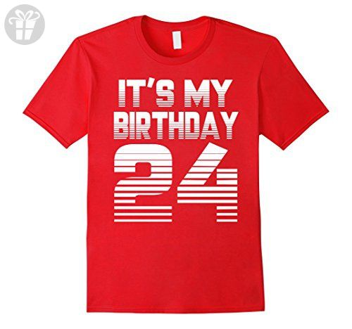 Mens It's My Birthday 24th T-shirt,1993 Birthday T-shirt Small Red - Birthday shirts (*Amazon Partner-Link)