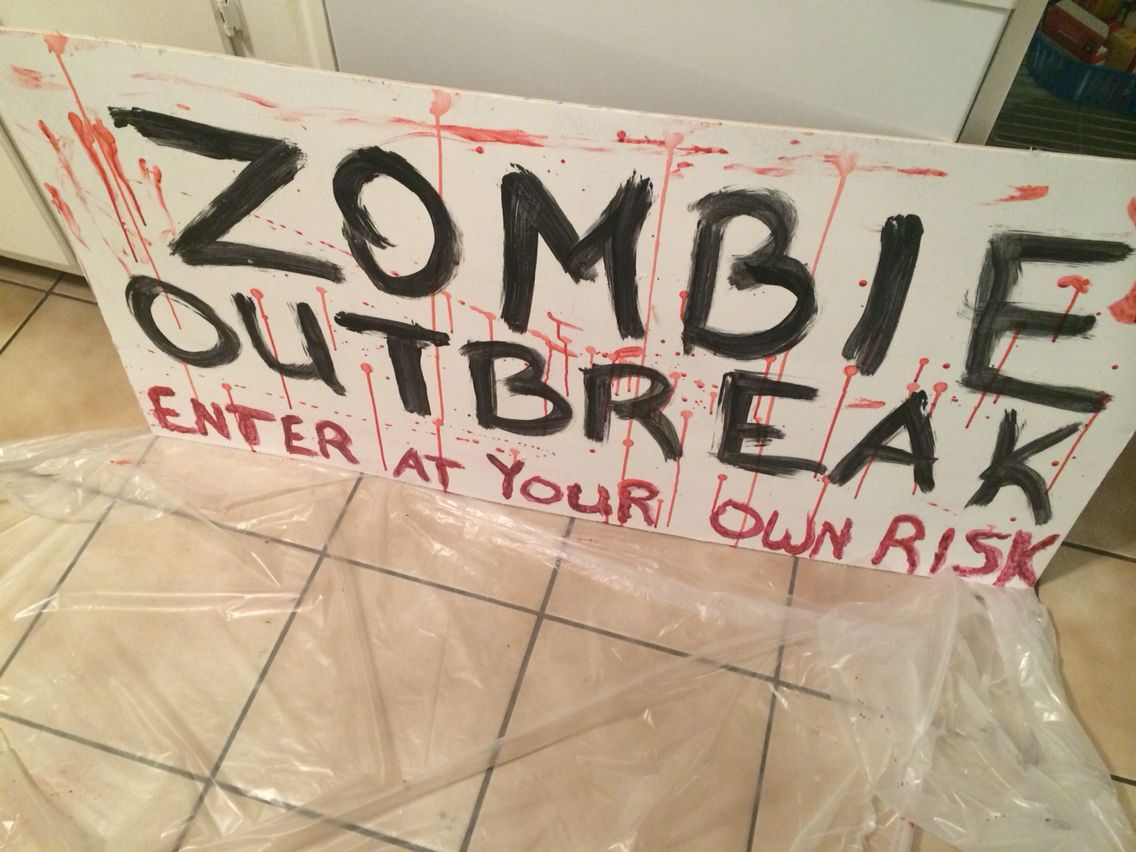 Walking dead sign. Birthday party