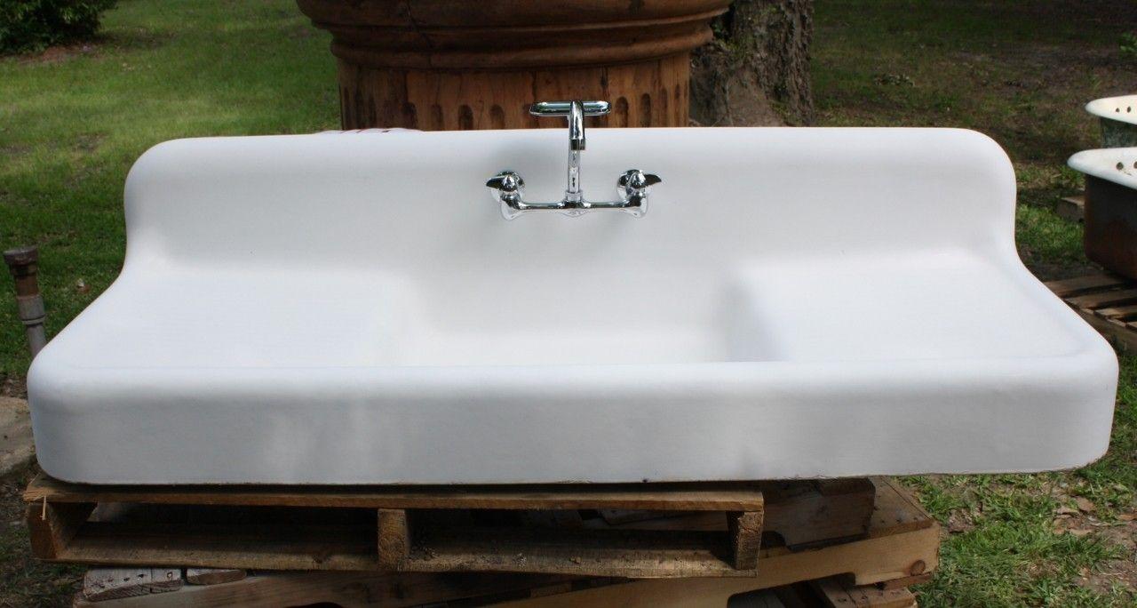 Farmhouse Sink With Drainboard Best House Design Farmhouse Sink Kitchen Kitchen Sink Faucets Farm Sink