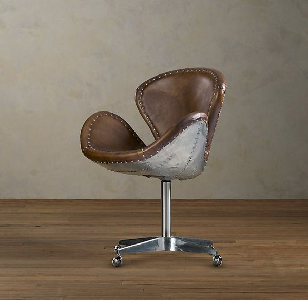 Luxury Aviator Furniture Collection By Restoration Hardware Extravaganzi Aviation Furniture Leather Swivel Chair Leather Dining Room Chairs