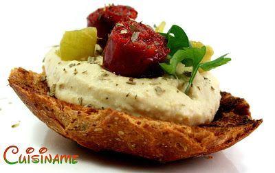 Recetas De Cocina Originales   Recetas De Cocina Tapas Originales A Base De Hummus Y Chorizo