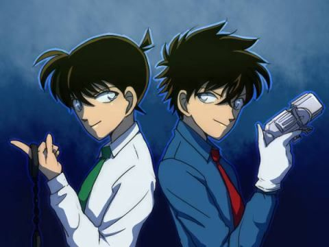 Detective Conan Shinichi And Kaito Kid