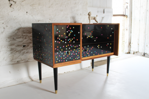 Lucy Turner Disco Sideboard Glosy Black 80u0027s Furniture