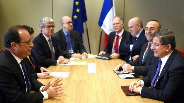 Gipfel in Brüssel EU und Türkei einigen sich auf Flüchtlingsabkommen ...