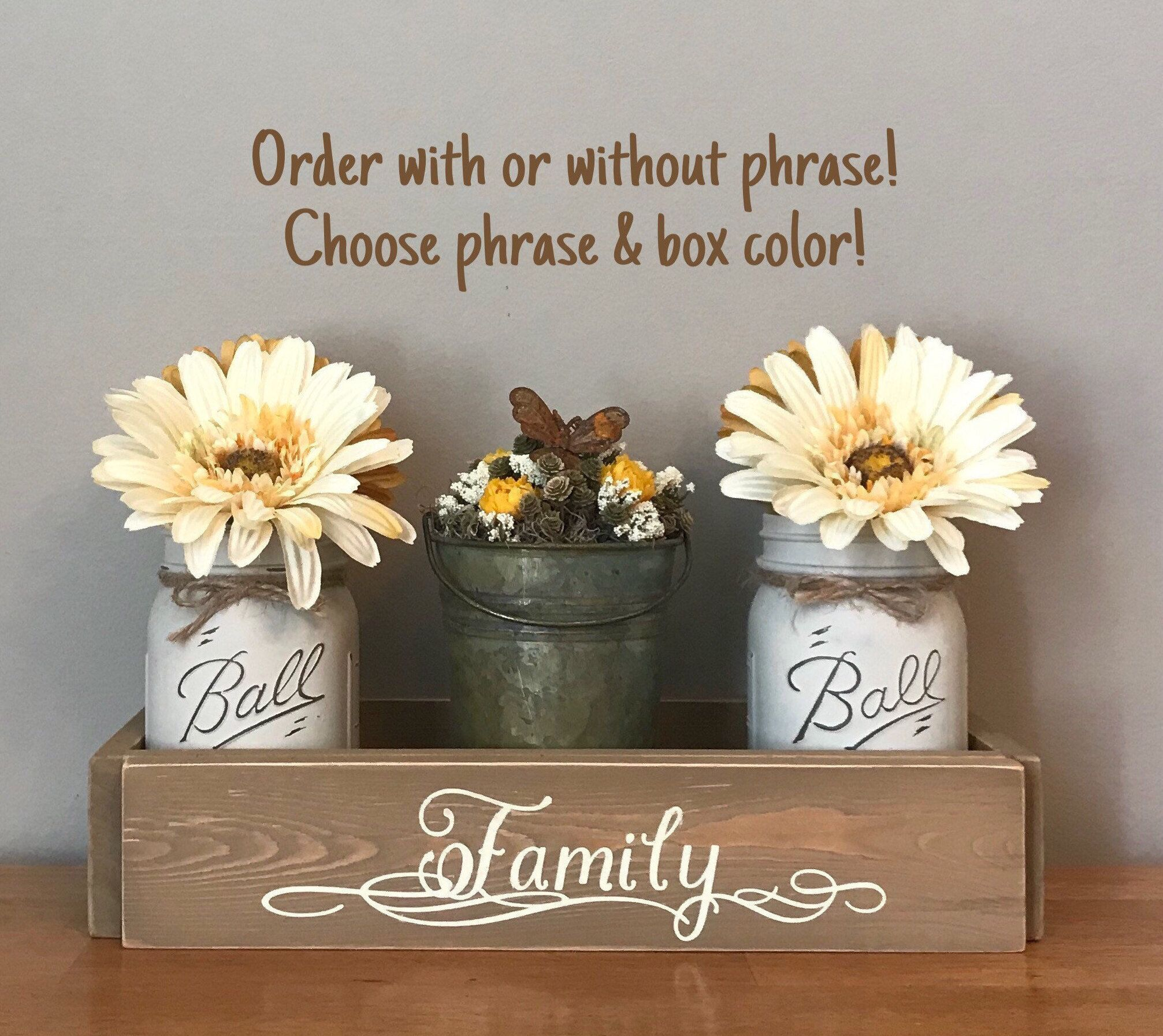 Mason Jar Centerpieces For Dining Table Kitchen Table Centerpiece Mason Jar Decor F Kitchen Table Centerpiece Kitchen Decor Themes Kitchen Decor Inspiration
