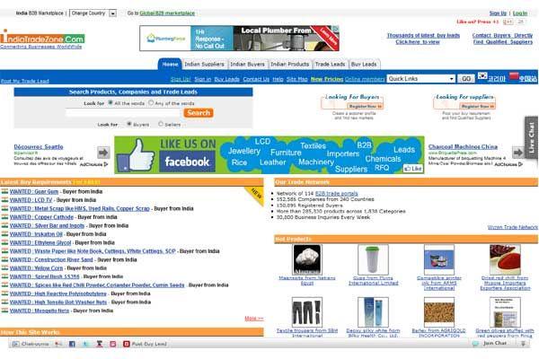 Top 10 Indian B2b Websites Indiatradezone Com A Best Place