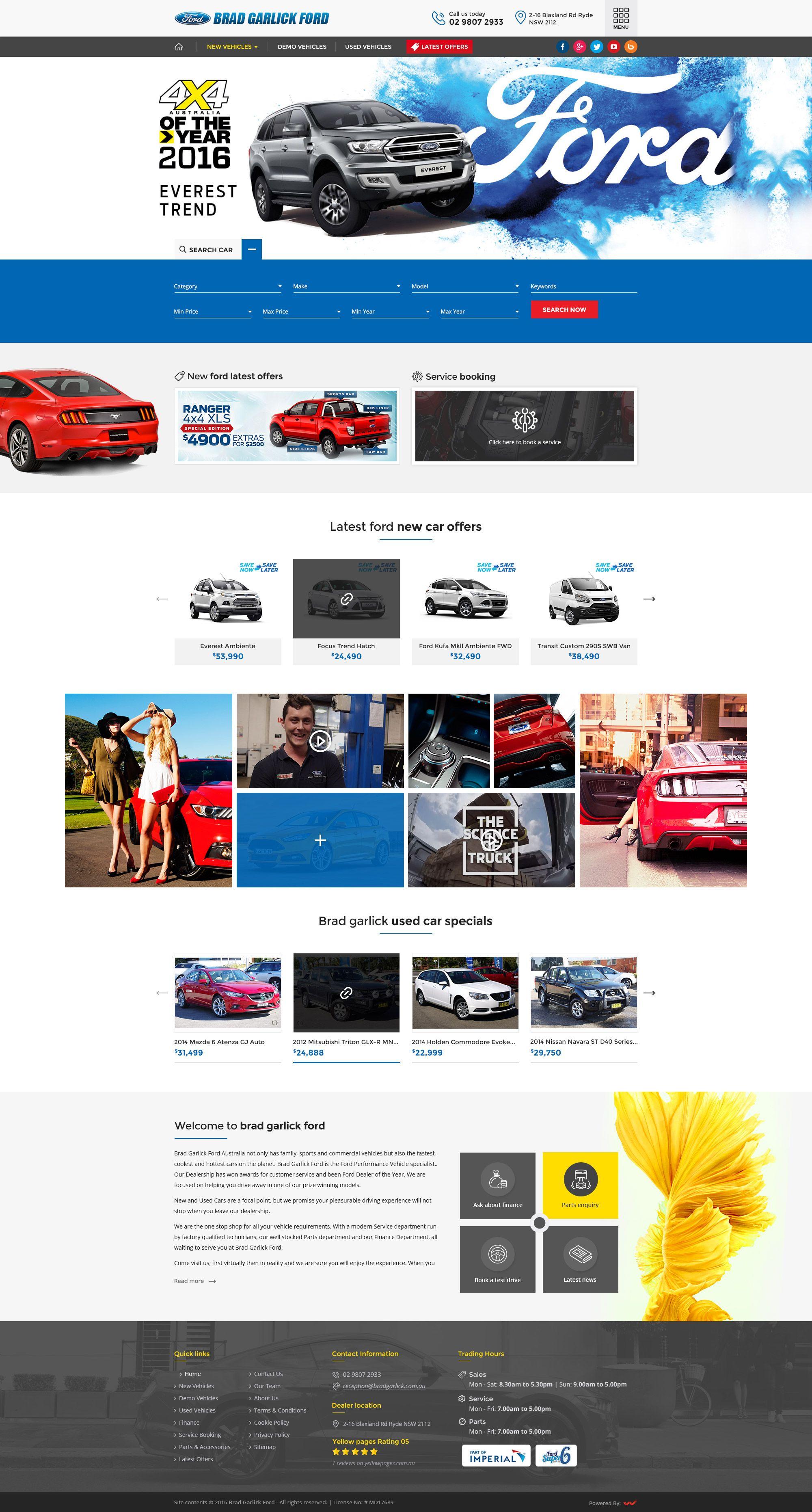 Website Design For Used Demo Car Used Cars Ford Australia Demo